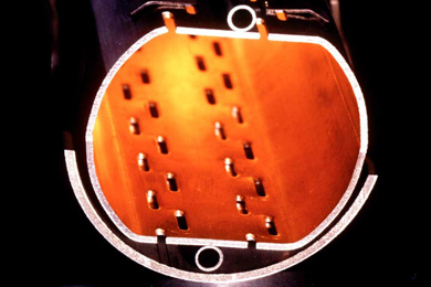 Специальный защитный экран, находящийся внутри вакуумной трубы LHC