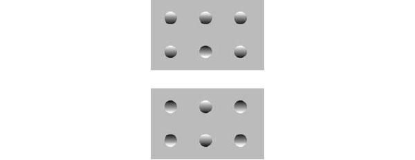 Иллюзия с костяшками домино