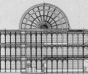 Фронтальный вид Хрустального дворца
