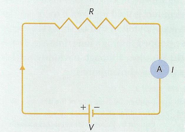 U - источник тока, выход мафона R - нагрузка, динамик (ом) A - амперметр, измеритель силы тока. считаем: 15(v) : 4(ом)...