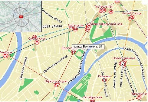 Схема проезда (карта с сайта