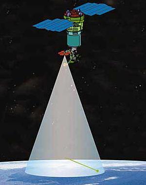 Космический детектор ТУС будет наблюдать ШАЛ ультравысокой энергии с орбиты Земли. Изображение: \&\#39\;Наука и жизнь\&\#39\;