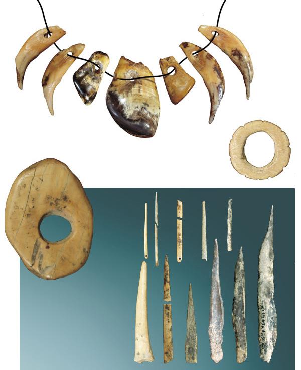 Образцы культуры ранней стадии верхнего палеолита