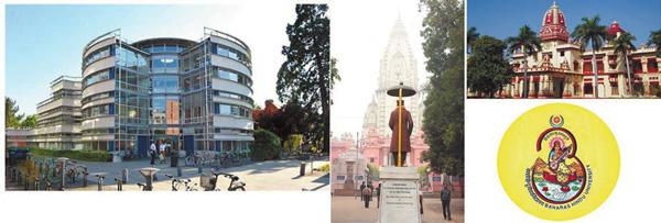 <i>Слева</i>: факультет богословия, Кембридж. <i>Справа</i>: Бенаресский индуистский университет