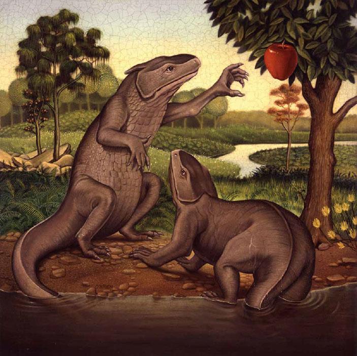 Адам и Ева. Картина Тима О'Брайена («Химия и жизнь» №12, 2016)