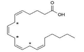 Рис. 3. Арахидоновая кислота («Химия и жизнь» №10, 2018)
