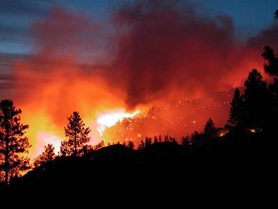 Еще один крупный пожар на открытой