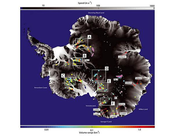 приводится на сайте NASA.  Гляциологи составили первую подробную карту...