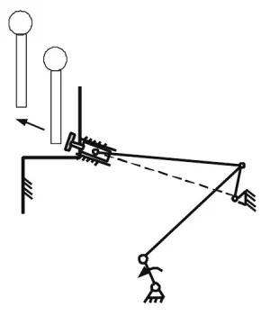 Шестистержневой рычажный механизм с заводной рукояткой, получающей движение от колес («Троицкий вариант» №11, 2021)