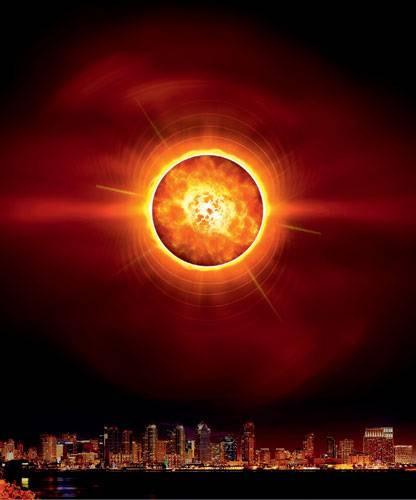 Заряд для супербомбы. Вакуумное поле в центре монополя сохраняет экзотические свойства, которое имело до автономизации сильного взаимодействия. Как объяснил «Популярной механике» профессор теоретической физики Стэнфордского университета Леонард Сасскинд, такое поле должно катализировать распад протона. Поэтому протон при столкновении с монополем обязан превращаться в более легкие частицы, такие как нейтральный пион и позитрон. Это будет настоящей аннигиляцией, причем для нее ненужна никакая антиматерия. Идеальная начинка для супербомбы! Изображение: «Популярная механика»