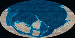 Континенты в кембрии (иллюстрация: Northern Arizona University) («Кот Шрёдингера» №9–10, 2017)