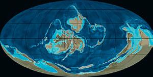 Континенты в силуре (иллюстрация: Northern Arizona University) («Кот Шрёдингера» №9–10, 2017)