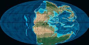 Континенты в триасе (иллюстрация: Northern Arizona University) («Кот Шрёдингера» №9–10, 2017)