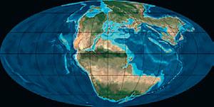 Континенты в юрский период (иллюстрация: Northern Arizona University) («Кот Шрёдингера» №9–10, 2017)