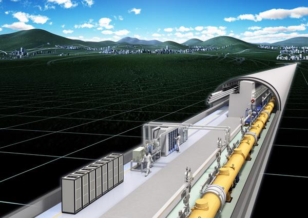 В горах Китаками (о. Хонсю, Япония) будет построен многокилометровый туннель для электрон-позитронного коллайдера. Его работа поможет изучить свойства недавно открытой фундаментальной частицы — бозона Хиггса. Изображение с сайта www.interactions.org