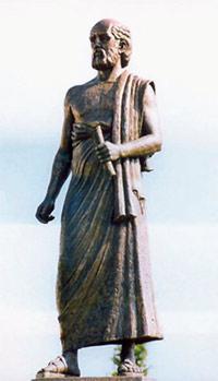 Памятник Аристарху Самосскому в Салониках. Изображение: «Квант»