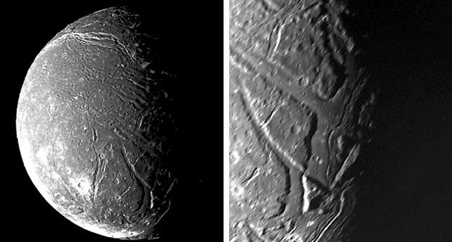 Спутник Урана Ариэль и его каньоны («Квантик» №9 и №10, 2017)