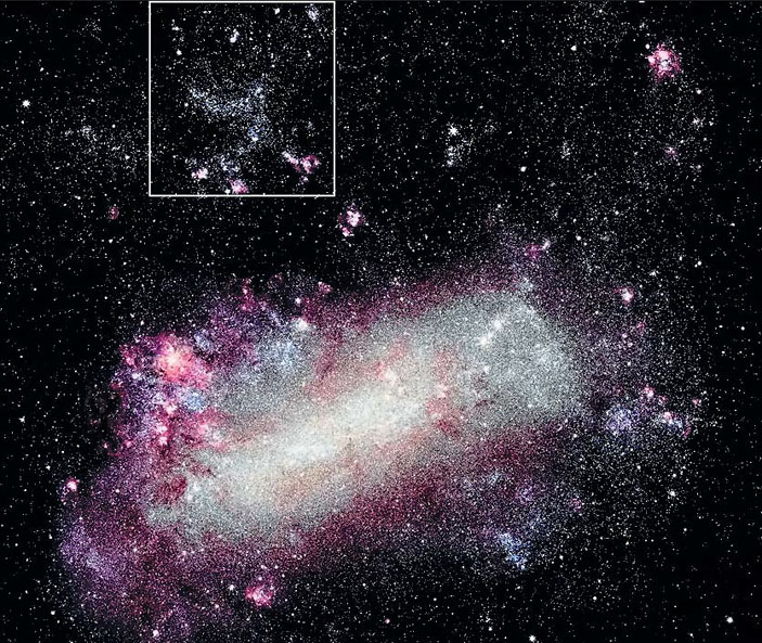 Рис. 1. Галактика Большое Магелланово Облако («Природа» №7, 2019)