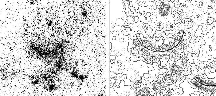 Рис. 3. Гигантские звездные дуги в Большом Магеллановом Облаке («Природа» №7, 2019)