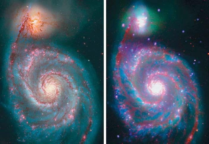 Рис. 6. Спиральная галактика М 51 (Водоворот) («Природа» №7, 2019)