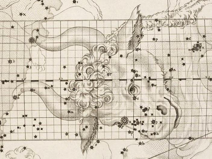Часть созвездия Тельца из атласа Дж. Бевиса «Уранография Британика» («Наука и жизнь» №4, 2019)