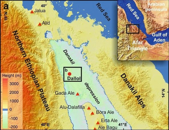 Карта Данакильской впадины