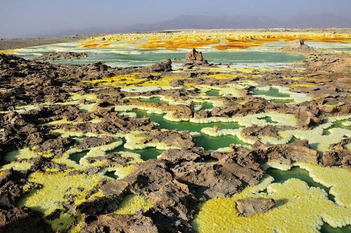 Цвет озера и минералов