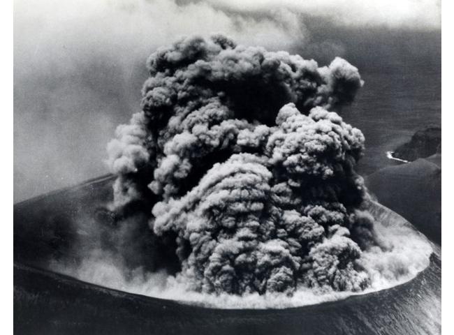 Извержение вулкана Барсена. 9 сентября 1952 года