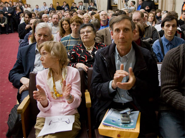 Фримен Дайсон. 23марта 2009года, Москва, ФИАН. Фото: фонд «Династия»