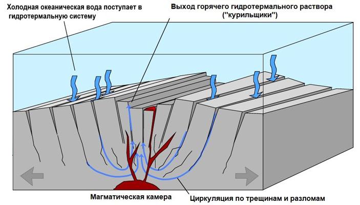 Значительная доля земного метана образуется втолще океанической коры