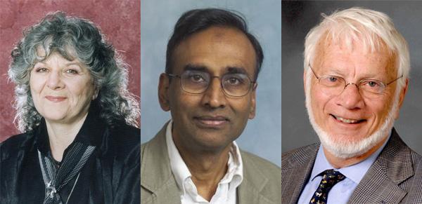 Лауреаты Нобелевской премии по химии за 2009год: Ада Йонат, Венки Рамакришнан и Томас Стайц. Фото с сайтов www.jewishjournal.com, www.cef-mc.de и opa.yale.edu