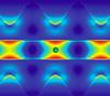 Интенсивность светового поля внутри и рядом с «аллигаторным» фотонным кристаллом