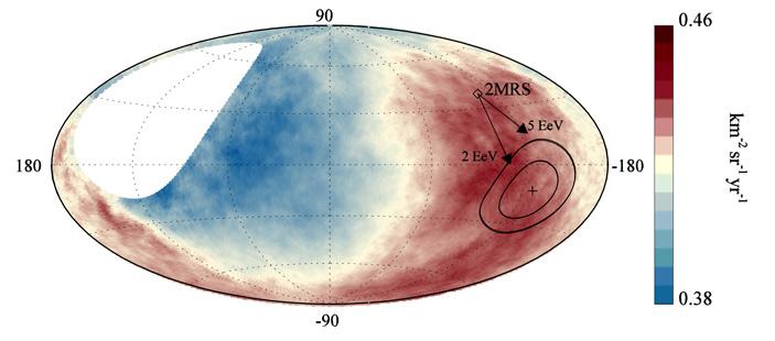 Рис. 5. Данные с рисунка 4 в галактических координатах