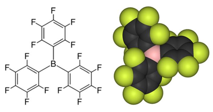 Рис. 2. Структура триc(пентафторфенил)боранa