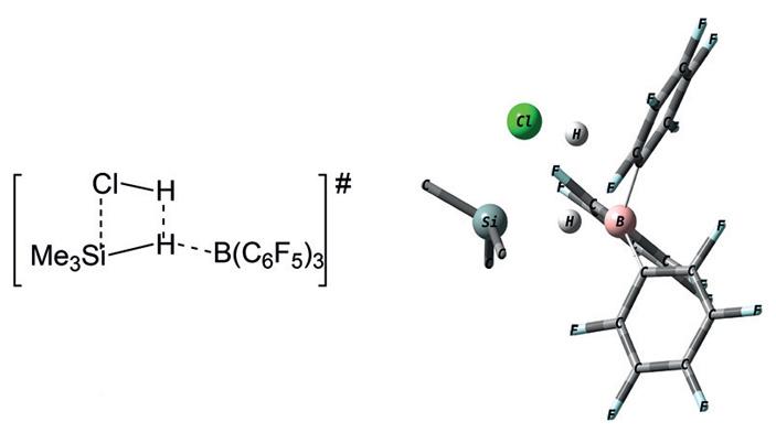 Рис. 4. Модель структуры переходного состояния реакции