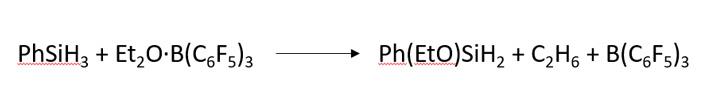 Рис. 5. Стехиометрическая реакция фенилсилана с эфиратом бора