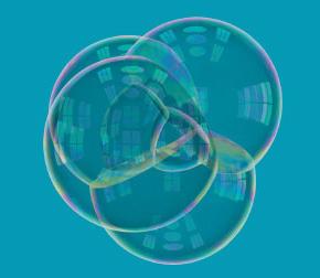 Кластеры из нескольких мыльных пузырей досих пор ставят перед математиками неразрешимые задачи (изображение из обсуждаемой статьи)
