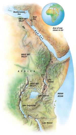 Рис. 2. Восточно-Африканская рифтовая система