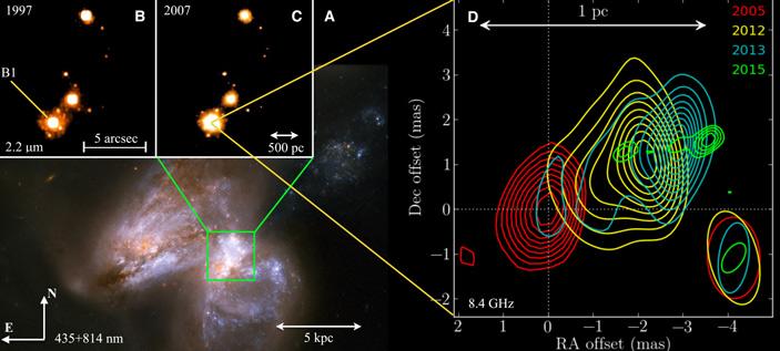 Рис. 5. Изображение пары сливающихся галактик Arp 299 в оптическом диапазоне