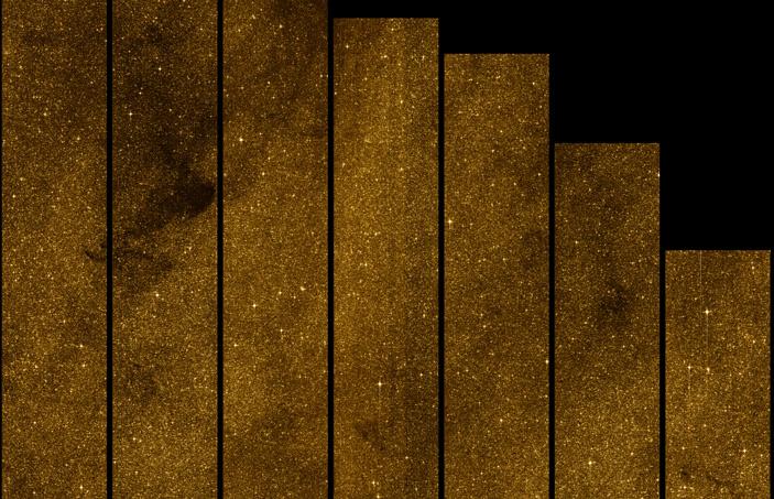 Рис. 3. Скопление звезд рядом с центром нашей Галактики