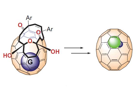 Внедрение исследованных молекул в полость фуллерена