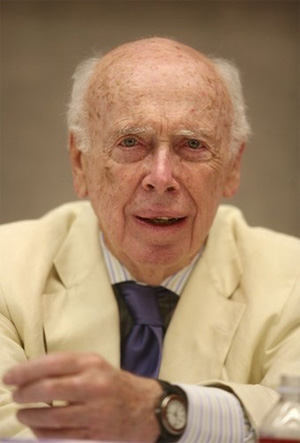 James D. Watson, co-discoverer of the molecular structure of DNA and former director of Cold Spring Harbor Laboratory, had to retire from the position of chancellor at this institution after The Sunday Times (UK) published a few remarks attributed to him that were deemed racist and condemned by many in the scientific community. Photograph by Reuters from www.usatoday.com