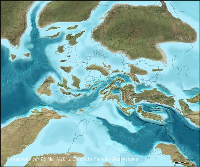 В конце мелового периода над Лысыми Горами летали североамериканские птеранодонтиды