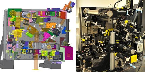 Рис. 1. 3D–модель и фотография чудо-микроскопа