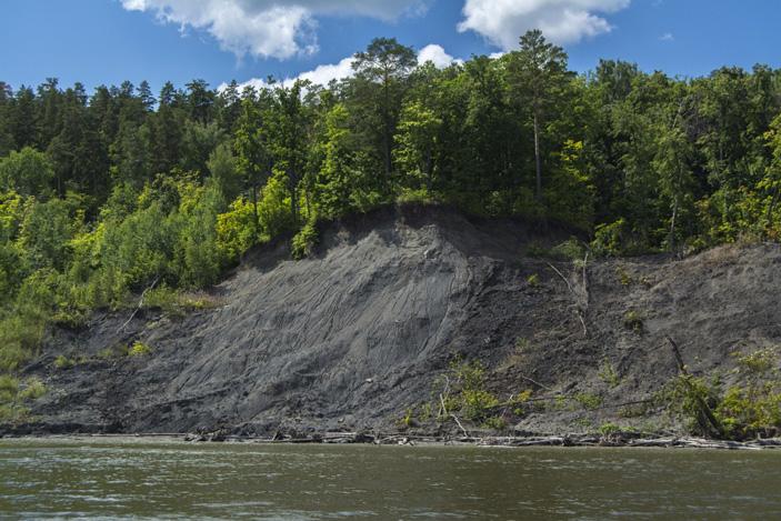 Речной обрыв в окрестностях поселка Сланцевый рудник