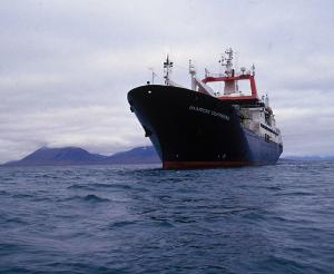 Французское научно-исследовательское судно Marion Dufresne, с борта которого вели исследования круговорота железа в районе Кергеленского плато. Фото с сайта www.extraplac.fr