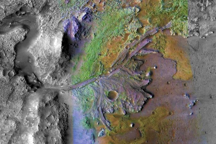 Рис. 2. Спектрометрическое изображение района «западной дельты»