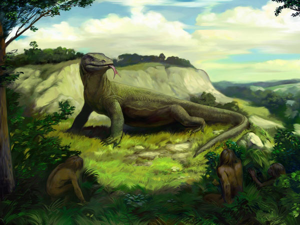 Megalania, Artwork Greeting Card for Sale by Science Photo Library