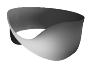 Рис.1. Лента Мебиуса— полоска, обладающая только одной кромкой, а также только одной стороной. Оказывается, всветовом поле трехмерного света вектора поляризации могут образовывать аналогичные структуры. Изображение с сайта math.uwaterloo.ca