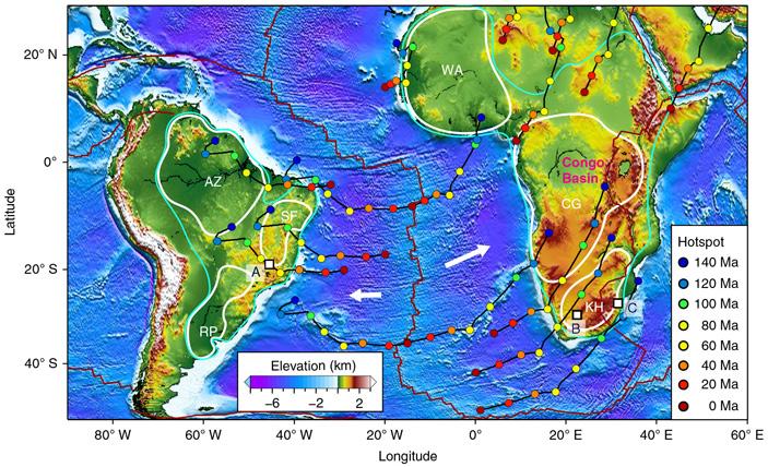Топография и тектоническая история Южной Атлантики